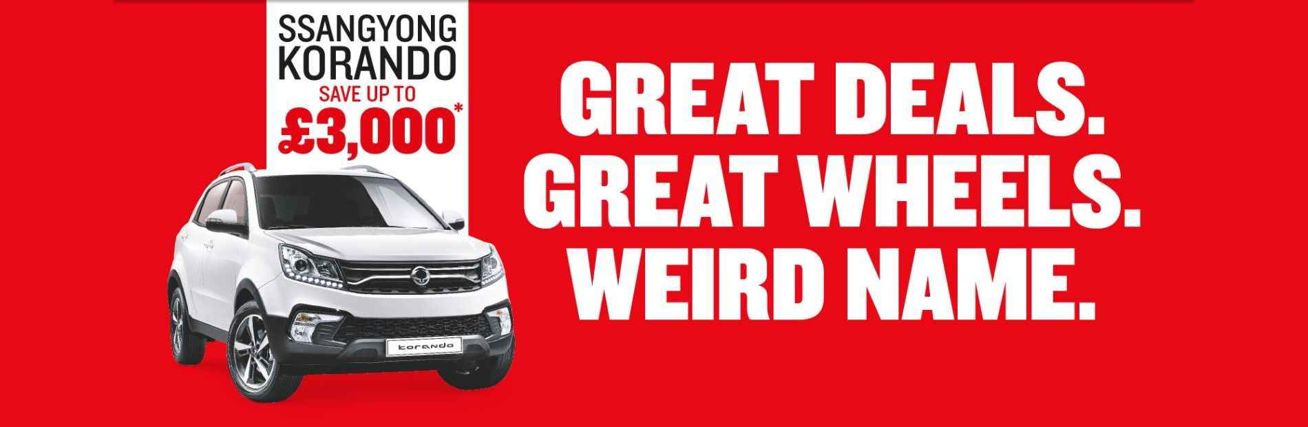 Korando Offer Banner